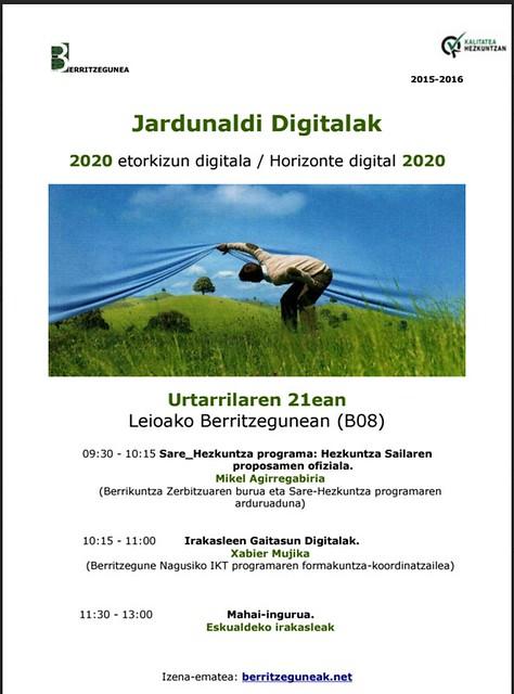 Jardunaldi Digitalak 2016  Jornadas Digitales 2016
