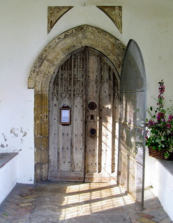 The south porch (c.1500) and doorway (c.1400), the Church of St George, Great Bromley, Essex, England
