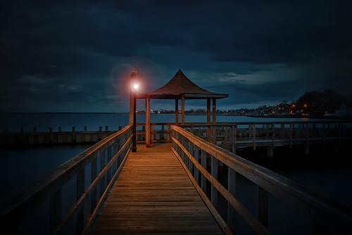 longexposure nightphotography sunset ny photography pier dock december gazebo bayport longisland lensflare newyearseve 28300mm happynewyear bluepoint 2016 2015 d610 nd10 tomreese corybeach wowographycom 4426521