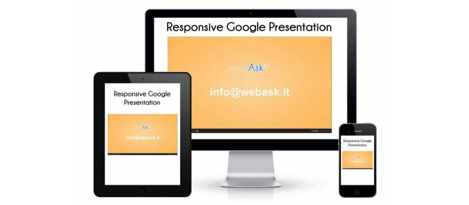 Responsive Google presentation in an adaptive format