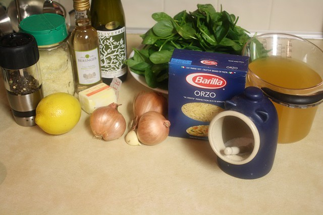 Lemon Spinach Orzotto