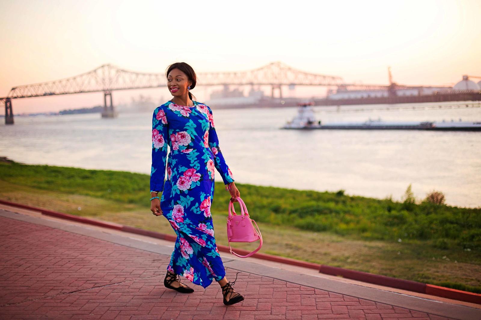 long maxi dress baton rouge fashion blogger