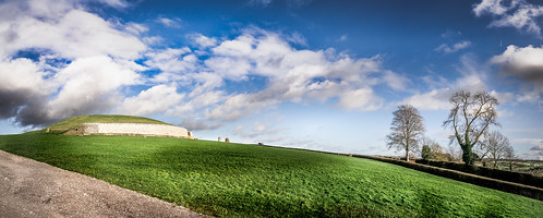 travel trees ireland light sky panorama tree green history megalithic nature grass weather clouds landscape geotagged photography photo europe sony fullframe ie onsale ultrawide a7 newgrange meath sonya7
