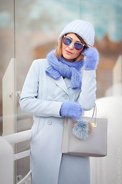 asos+blue+coat-balenciaga+cable+bag