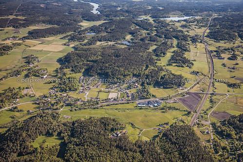 sverige nygård swe västragötaland järnväg 600m flygfoto