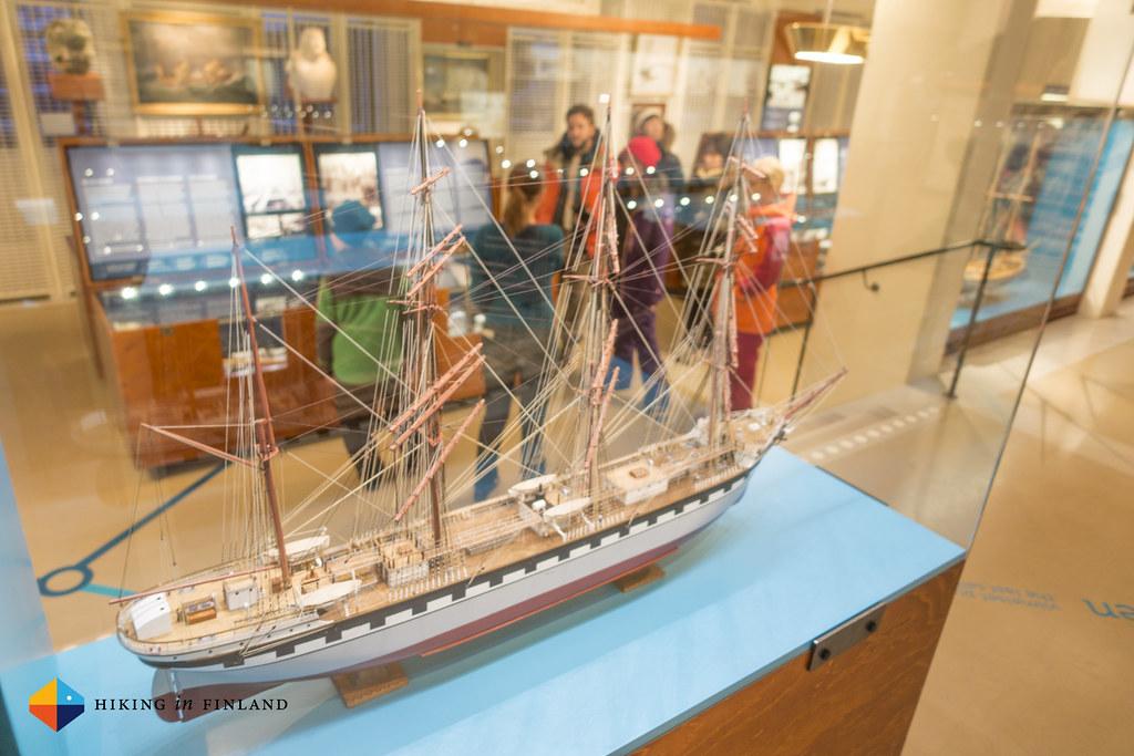Models inside Ålands Sjöfarts Museum