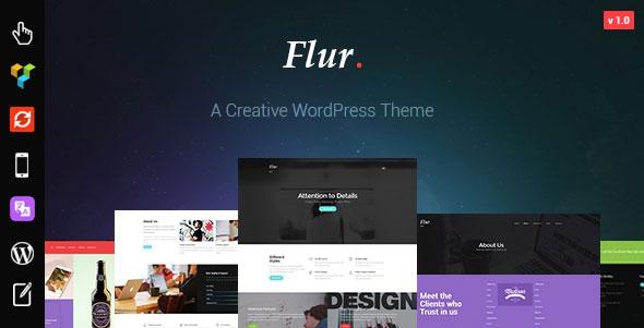Themeforest Flur v1.0 - Creative WordPress Theme