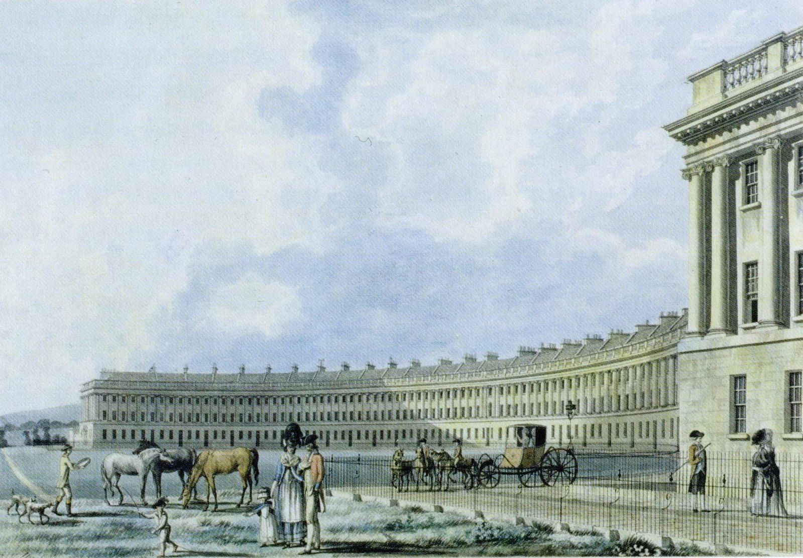 The Royal Crescent in Bath by Thomas Malton 1780