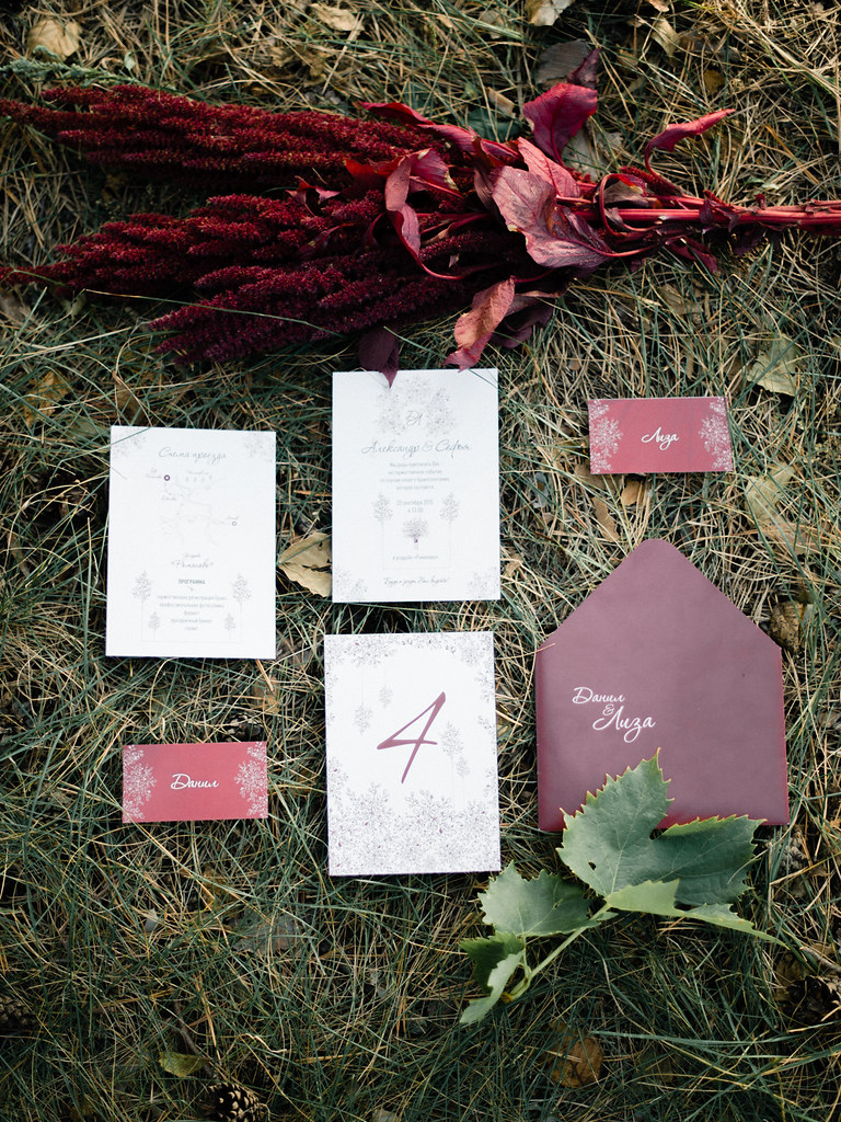 Autumn wedding invitation ideas | marsala wedding invitation | fabmood.com