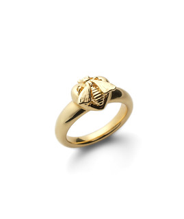 Le Marché des Merveilles ring with Bee motif in 18kt yellow gold