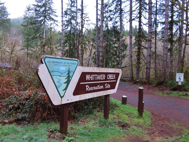 Whititaker Creek Recreation Site sign