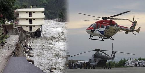 उत्तराखंड बाढ़ के दौरान बचाव कार्य
