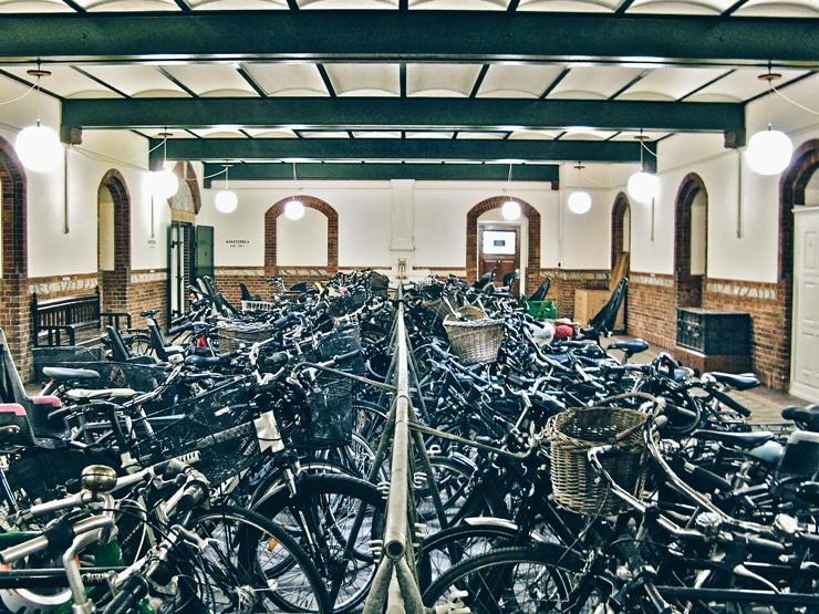 Bike parking parterre, City Hall in Copenhagen