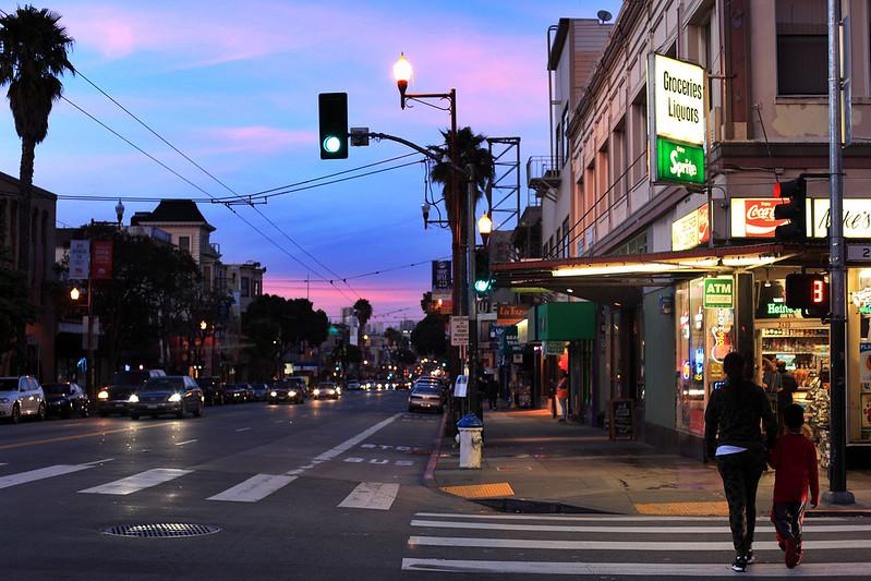 Mission Street evening