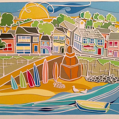 Apple Seed Paper Cuts - Seaside Beach