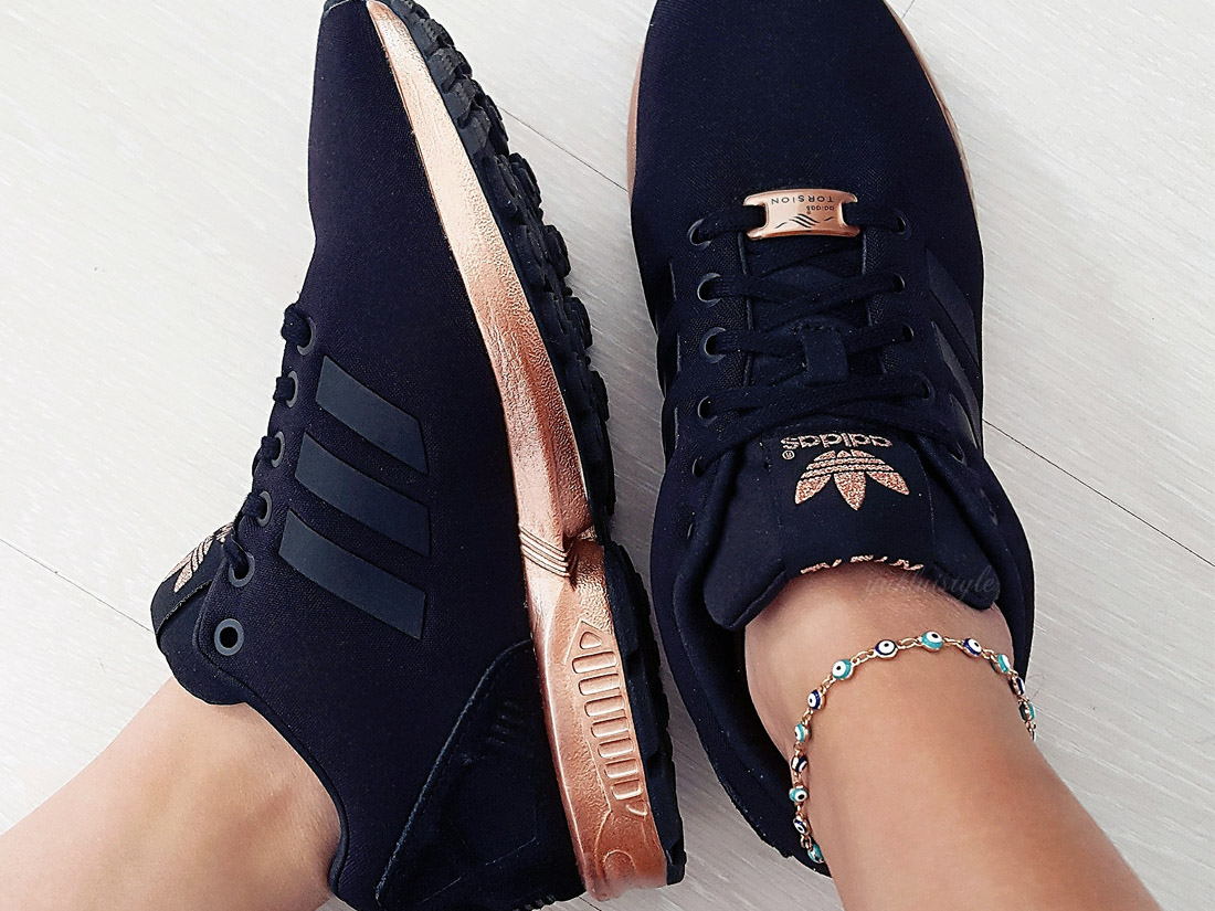 huge discount 36df8 f0695 The Adidas ZX Flux Rose Gold