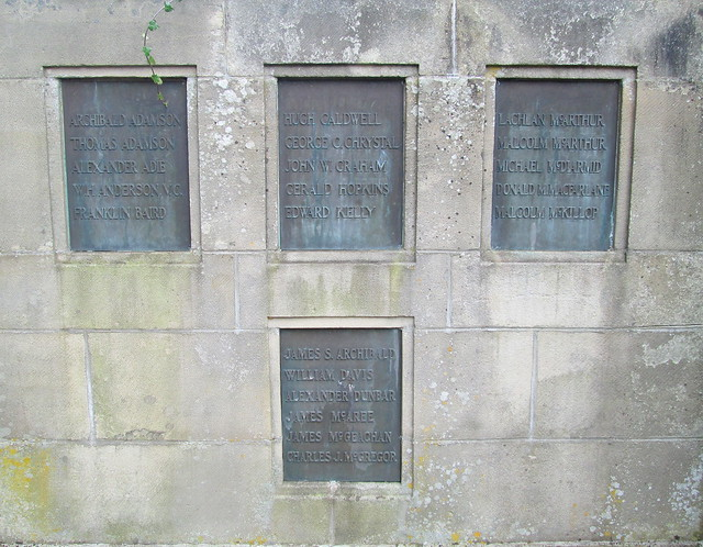 Cardross War Memorial Name Plaques