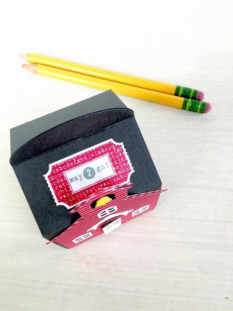 Teacher Tickets on top of Snack Cup Box by Papertrey Ink