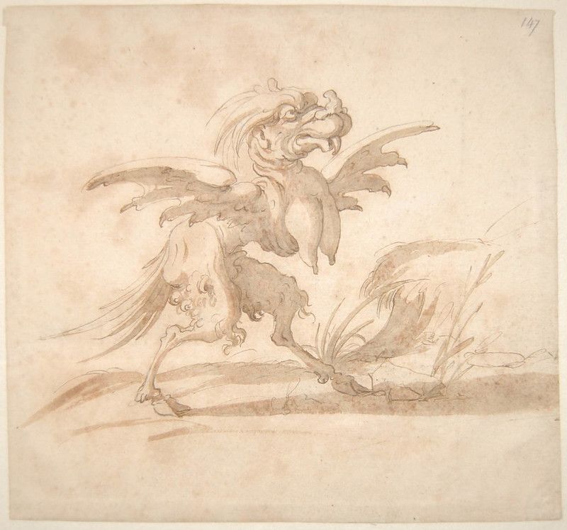 Arent van Bolten - Monster 147, from collection of 425 drawings, 1588-1633