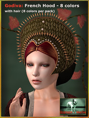 Bliensen + MaiTai - Godiva - French Hood with Hair 1