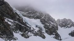 Podstawa sciany Piz Argient 3703m z lodowca Vadretta di Fellaria.
