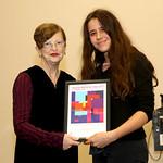 Deputy Lord Mayor Irene Doutney presents the Creative Award to Miranda Samuels