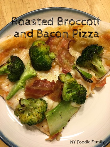 Roasted Broccoli and Bacon Pizza