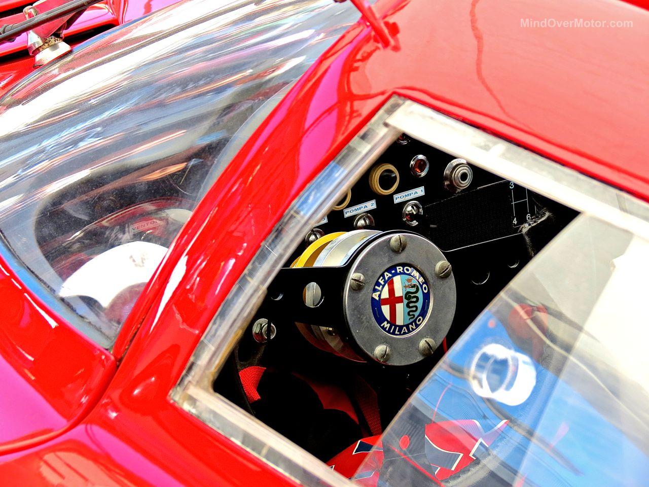 ALfa Romeo Steering Wheel Laguna Seca Paddock