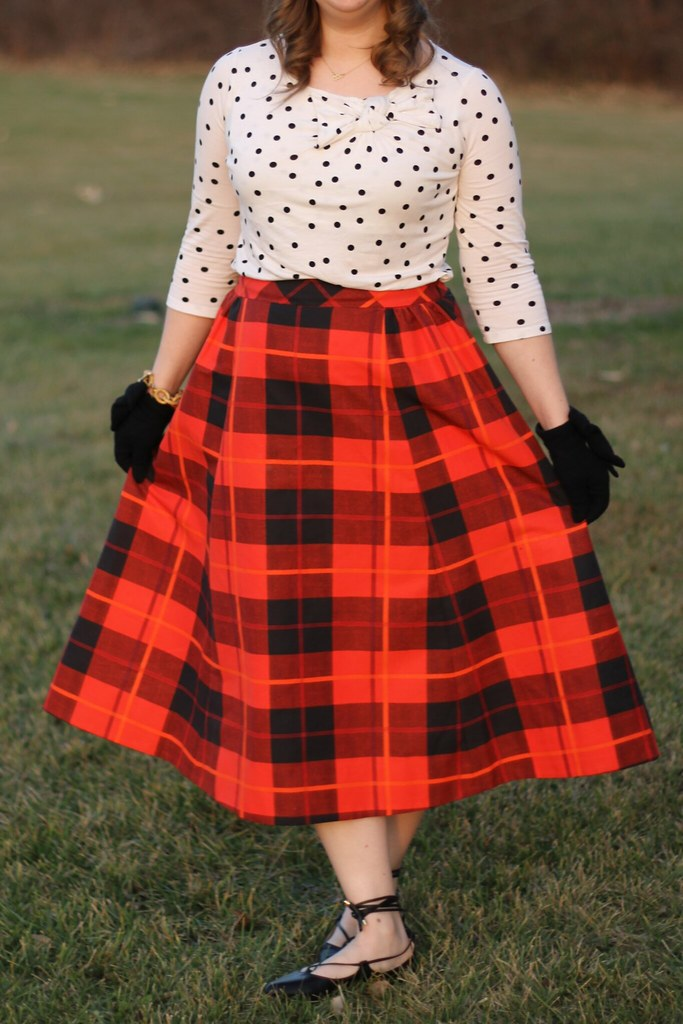 Kate Spade Woodland Plaid Midi Skirt