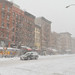 Small photo of During the blizzard
