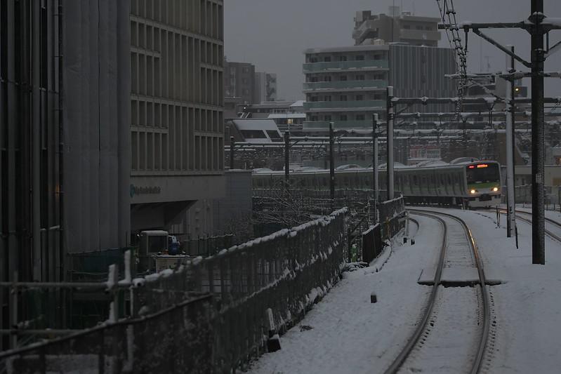 Tokyo Train Story 雪の山手線 2016年1月18日