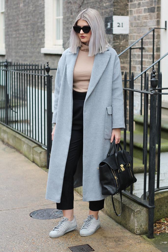 topshop grey coat 7
