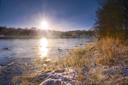 sunrise river scotland frosty moray spey ballindalloch blacksboat
