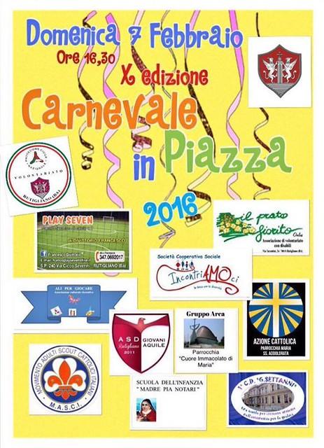 10° Carnevale in Piazza Rutigliano locandina