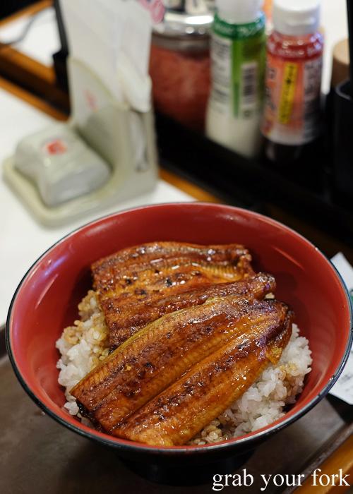 Double portion unagi eel on rice from Sukiya, Tokyo, Japan