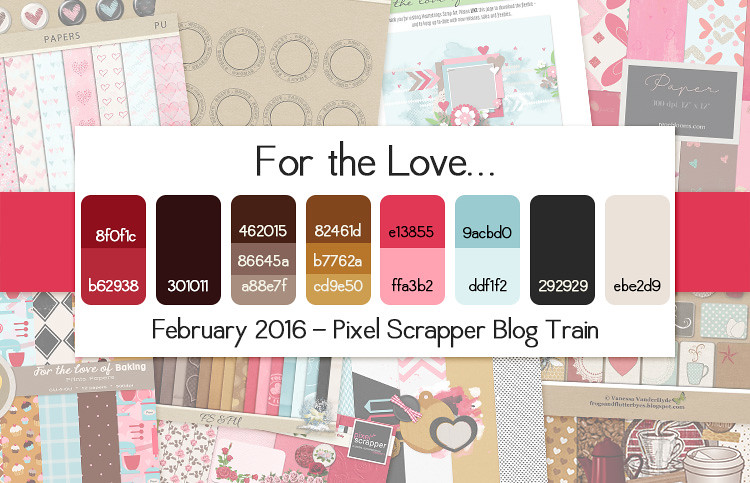 Pixel Scrapper February 2016 Blog Train