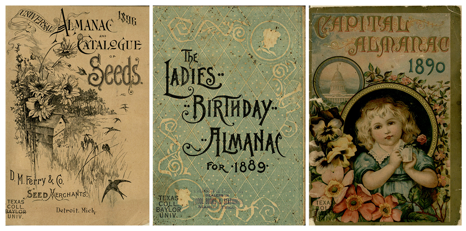 D.M. Ferry & Co. D. M. Ferry & Co's Universal Almanac, 1896; The Ladies Birthday Almanac, 1889; Capital Almanac Illustrated. J. S. McIntyre, 1890.
