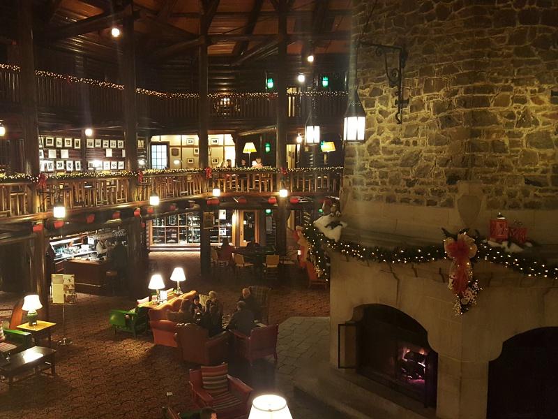 Fairmont Montebello lobby