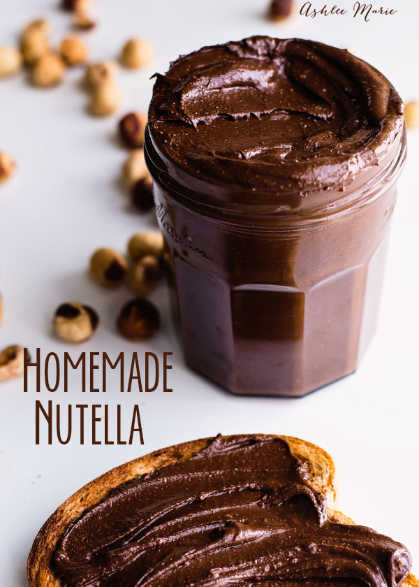 it is easy to make your own homemade nutella, you control the chocolate and sugar level when you make it yourself