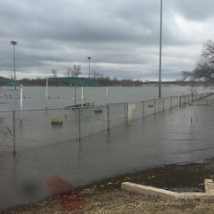 Soccer field under water. Lake #Grapevine still v. high