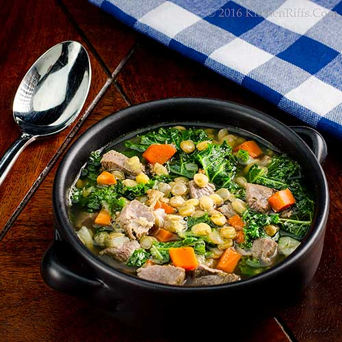 Duck, Lentil, and Kale Soup