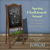"@ The Wash ~ [CIRCA] - Spring Chalkboard Stand - ""The Deep Roots Never Doubt"""