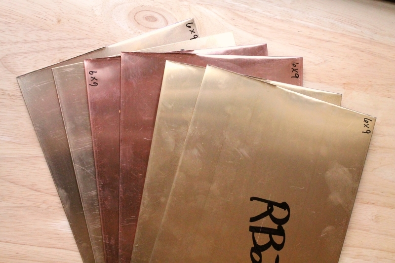 Metal sheets - brass & copper