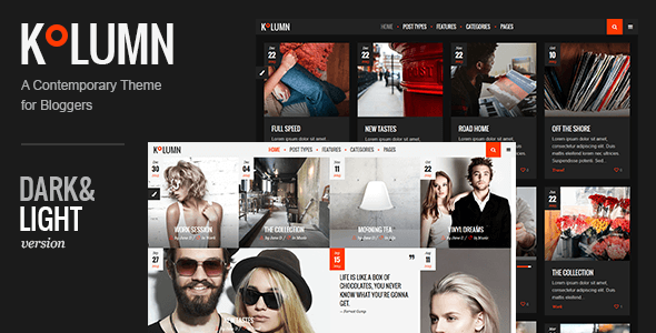 Themeforest Kolumn v1.0 - A Contemporary Theme for Bloggers