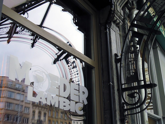 The Exterior of the Moeder Lambic Pub in Brussels, Belgium