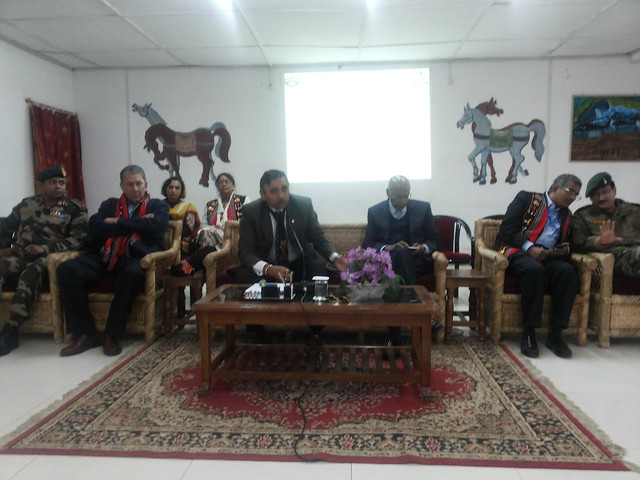 2.Ranjit Barthakur, S. Ramadorai, General Sahani, Mala Ramadorai at Retired Army Skills meeting at Marom, Senapati on 10022016