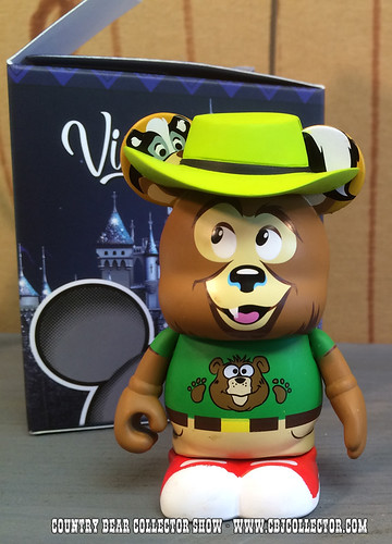 2015 Disney Vinylmation Park 16 Vacation Hoedown Henry Chaser Figure - Country Bear Collector Show #011