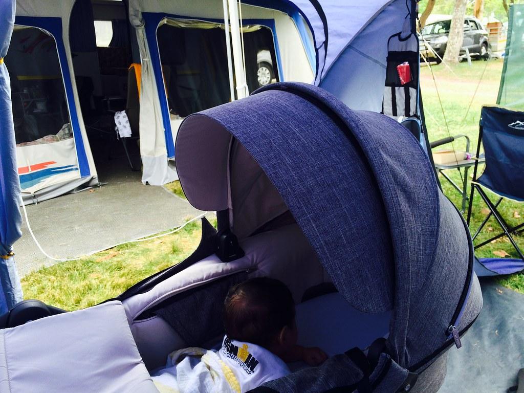 Caleb goes camping