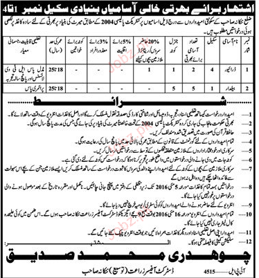 Driver and Balidar Jobs 2016