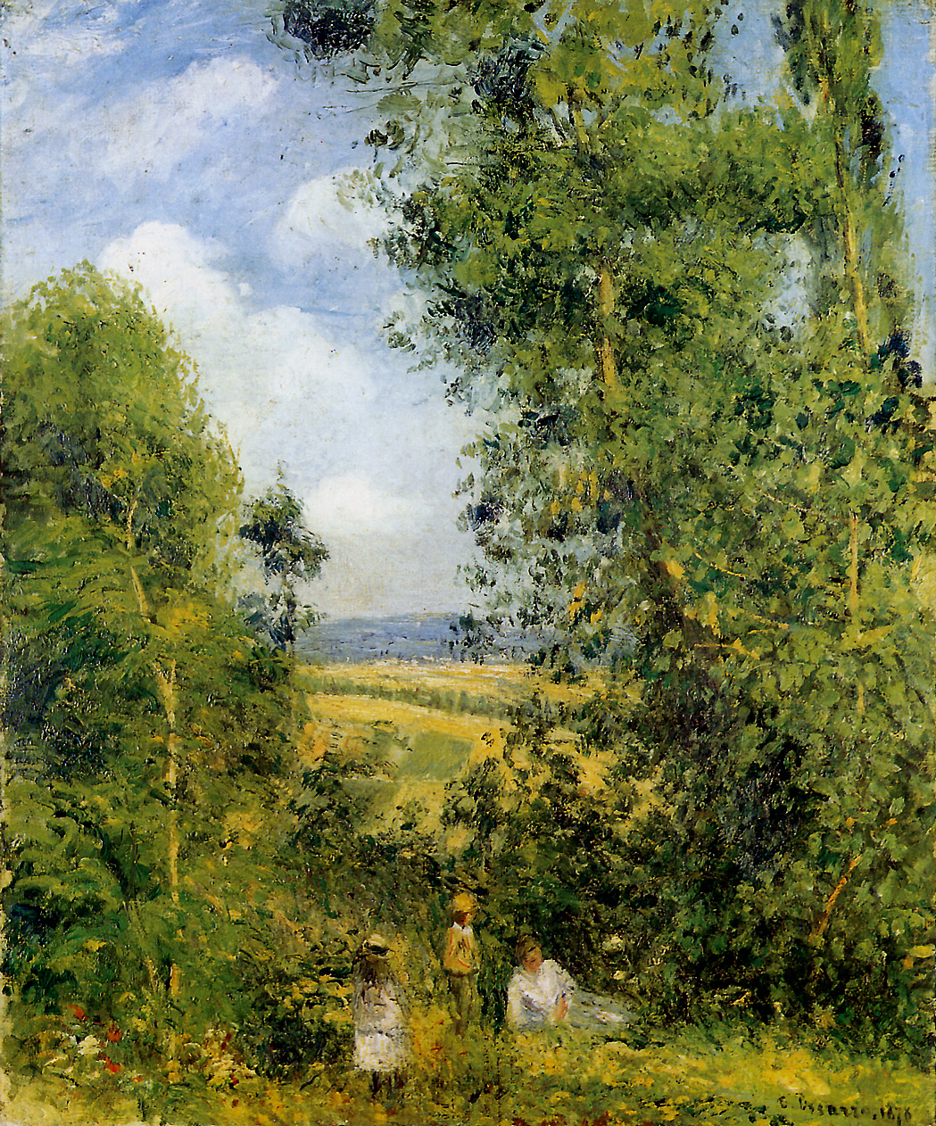 Resting in the woods Pontoise by Camille Pissarro, 1878